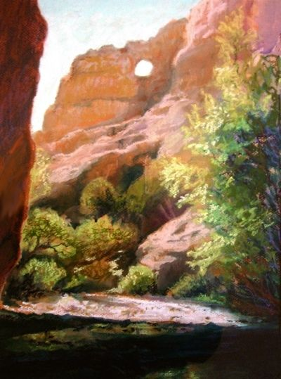Opening by Susan Pitcairn Pastel ~ 17 x 13
