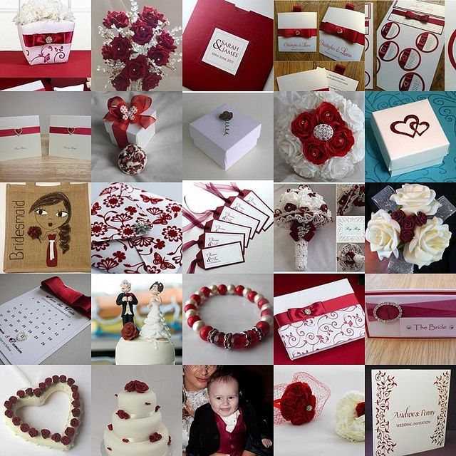 Red Themed Wedding Pictures by InspiredByScript.co.uk, via Flickr