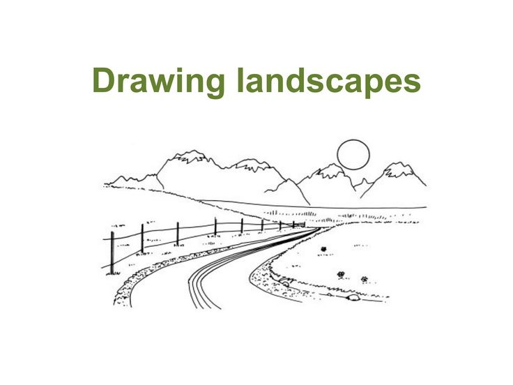 step by step instructions with pictures for drawing a landscape. Art at Becker Middle School: 7th graders- Landscape Practice
