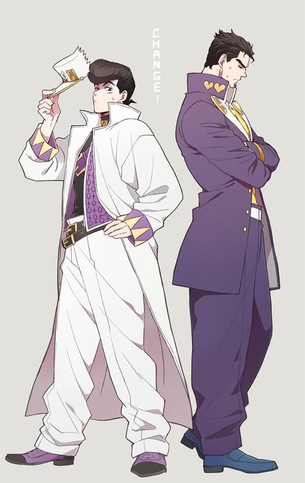 Jojo's Bizarre Adventure - Josuke & Jotaro Clothes Swap