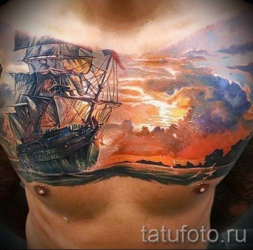 тату закат солнца - фото классной готовой татуировки от 14072016 24