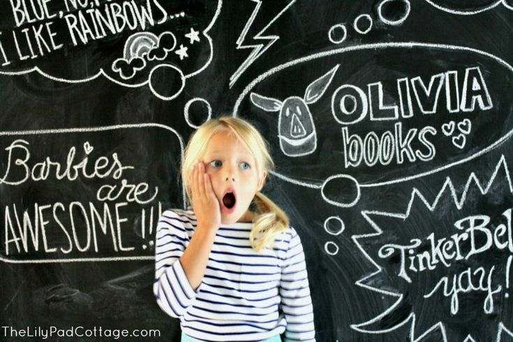 Fun back to school chalkboard art survey. Fill in blurbs and thought bubbles with your kids favorite things to remember this moment in time.