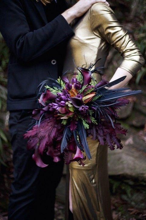 46 Fun Steampunk Wedding Bouquets   HappyWedd.com