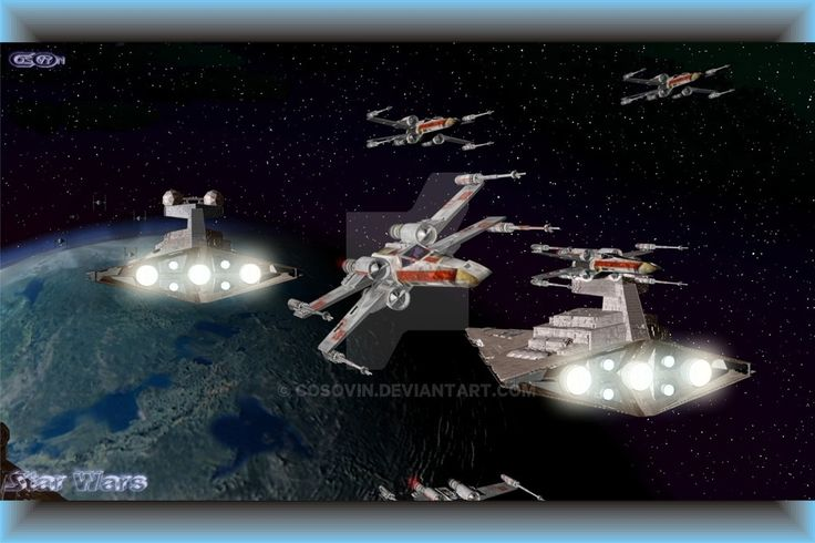 f. Star Wars - Star Destroyers and XWings Attack by cosovin.deviantart.com on @DeviantArt