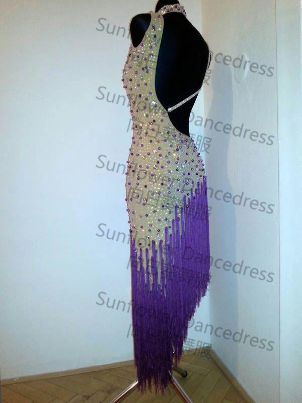 Латинский танец одежда,танго сальса ,а также устройства DMC камни ,Нью-конкурс бахрома латинский танец платье,сальса платье,танцевальный зал платье, чача