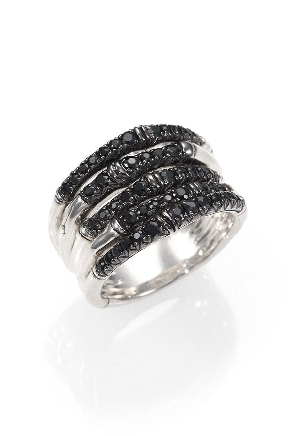 Black sapphires make this ring a serious stunner!