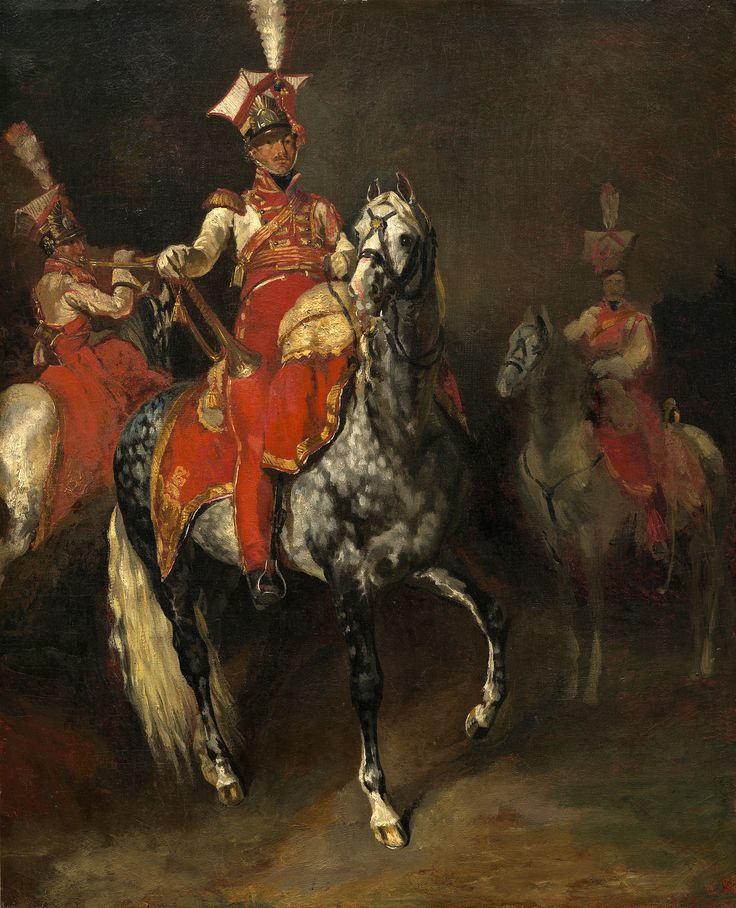 https://flic.kr/p/hgH1yj | Mounted Trumpeters of Napoleon's Imperial Guard | 1813/1814. Oil on canvas. 60,4 x 49,6 cm. National Gallery of Art, Washington. 1972.25.1.