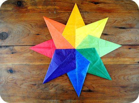 Waldorf Window Star (also called kite paper star)