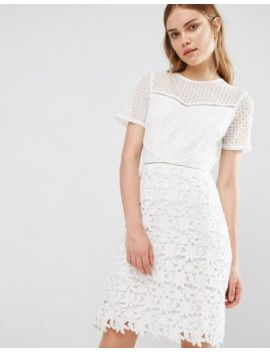 reiss-heather-mix-lace-dress by reiss  #dress #fashion #trends #onlineshopping #shoptagr