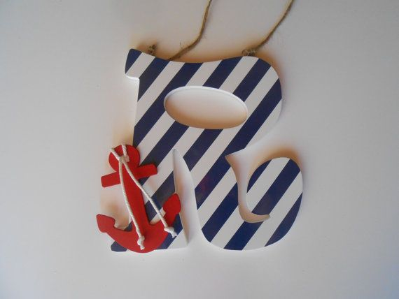 Anchor Decor  Nautical Nursery Decor  Red Anchor by LaurenAnnaLei, $15.50