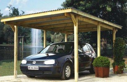Wiata garażowa to ekonomiczny sposób na ochronę pojazdu.