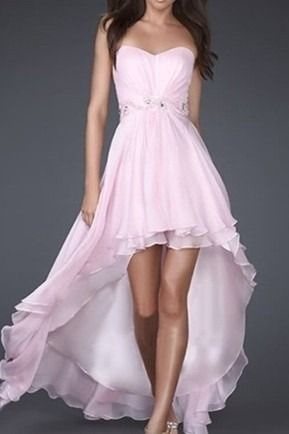 vestido mullet - rosa, branco e azul