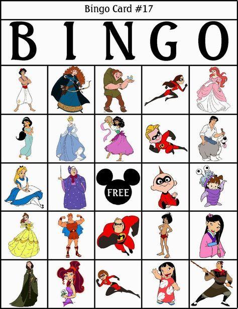 Bingo de Personajes Disney, para Imprimir Gratis.   bingo ...