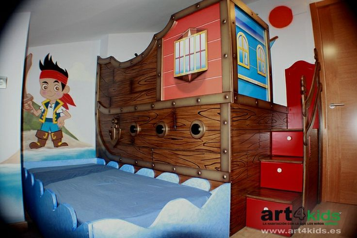 Cama infantil barco pirata habitaciones - Tobogan infantil ikea ...
