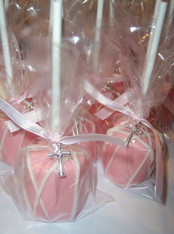 add rings and ribbon for wedding cake pops