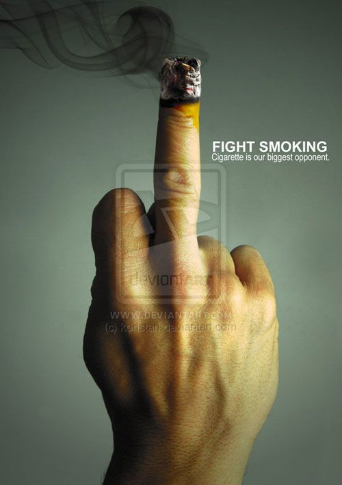 Remarkable Anti-Smoking Advertising Campaigns - 53 Examples