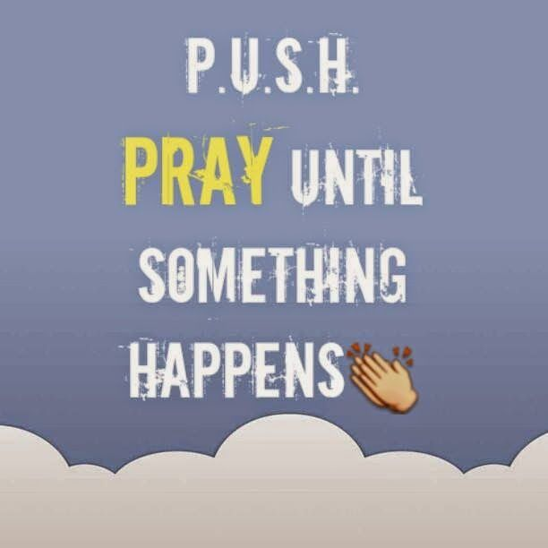 "Day 6/7 of Positivity: Pray more.. P.U.S.H. Spend time with God through prayers. Then hear Him through His Word.   ""When we pray, we open the door for God to come into our problems and situations and work on them."" @Joyce Meyer Ministries Meyer"