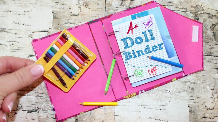 How to make Doll Binder | DIY Simple School Supplies Doll Crafts