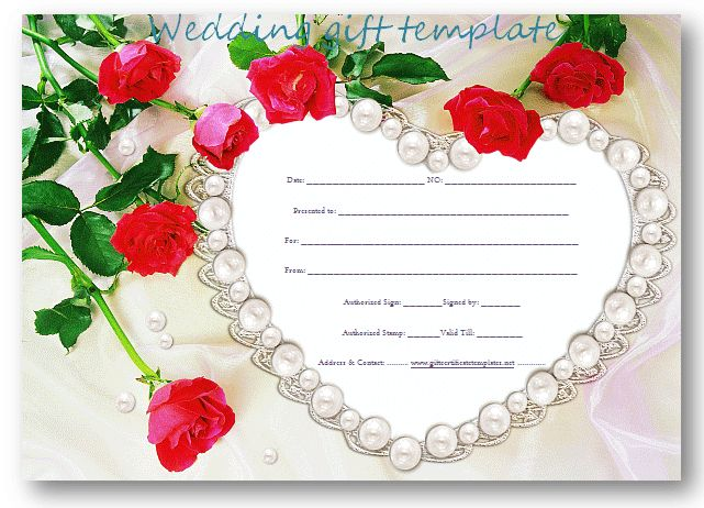Wedding Gift Online: Pearl-heart-wedding-gift-certificate-template (1