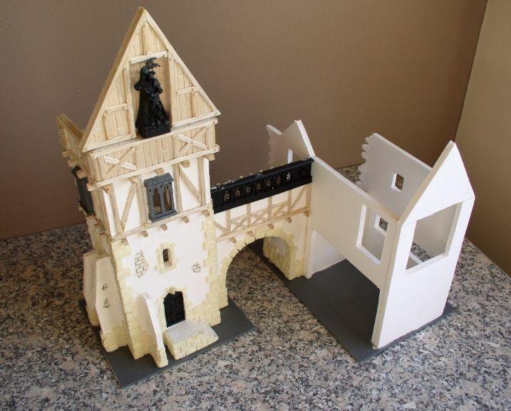 Warp Lib.: Modelisme : construire un manoir fortifie. Partie 3 - Aile gauche