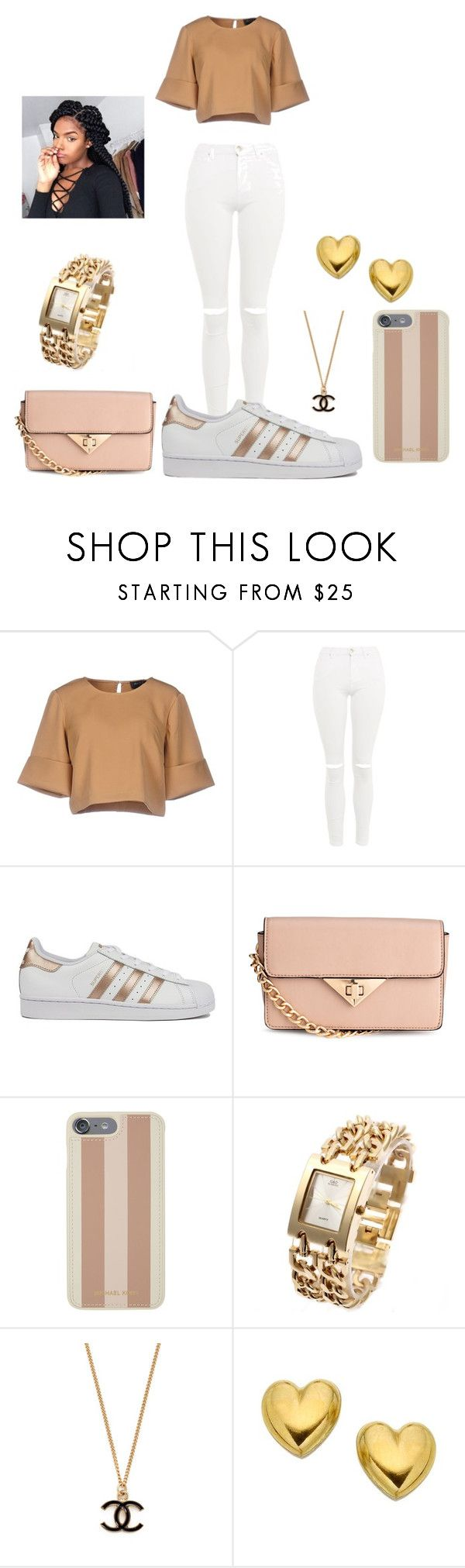 """""""slay"""" by malachiaewarrenwifeyjunnewarre on Polyvore featuring The Fifth Label, Topshop, adidas, H&M and Michael Kors"""