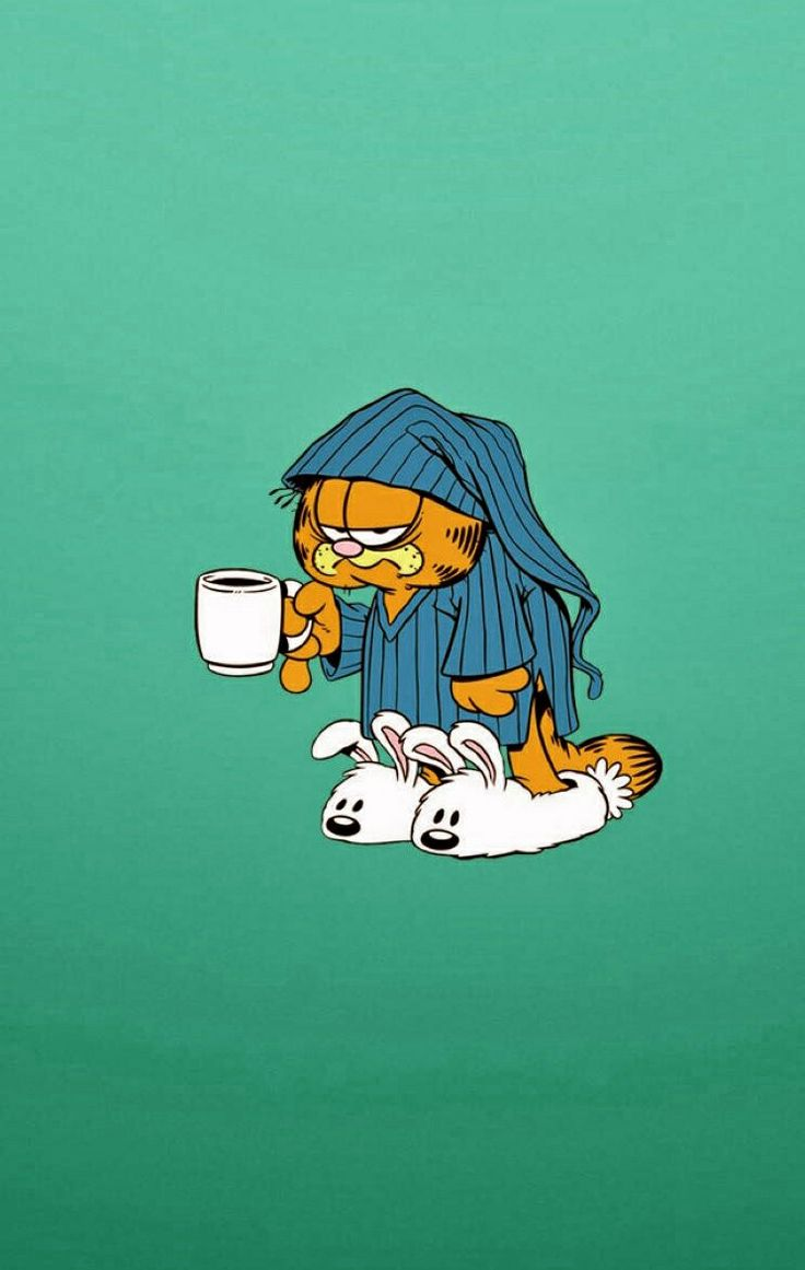 Garfield not ready for morning iphone wallpaper - Garfield wallpapers for mobile ...
