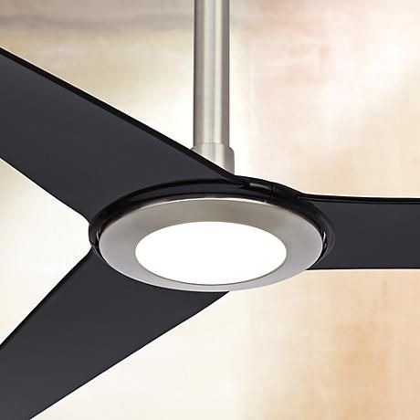 """60"""" Ozone™ LED Brushed Nickel Ceiling Fan - 12"""" Extension"""