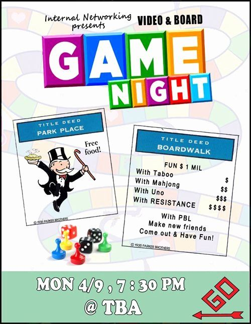 Parents Night Out Flyer Template Luxury Game Night Flyer Game Night Party Pinterest Board Game Night Game Night Game Night Parties