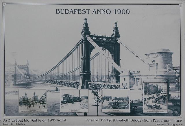 Budapest 1900 - Elisabeth Bridge by exfordy, via Flickr