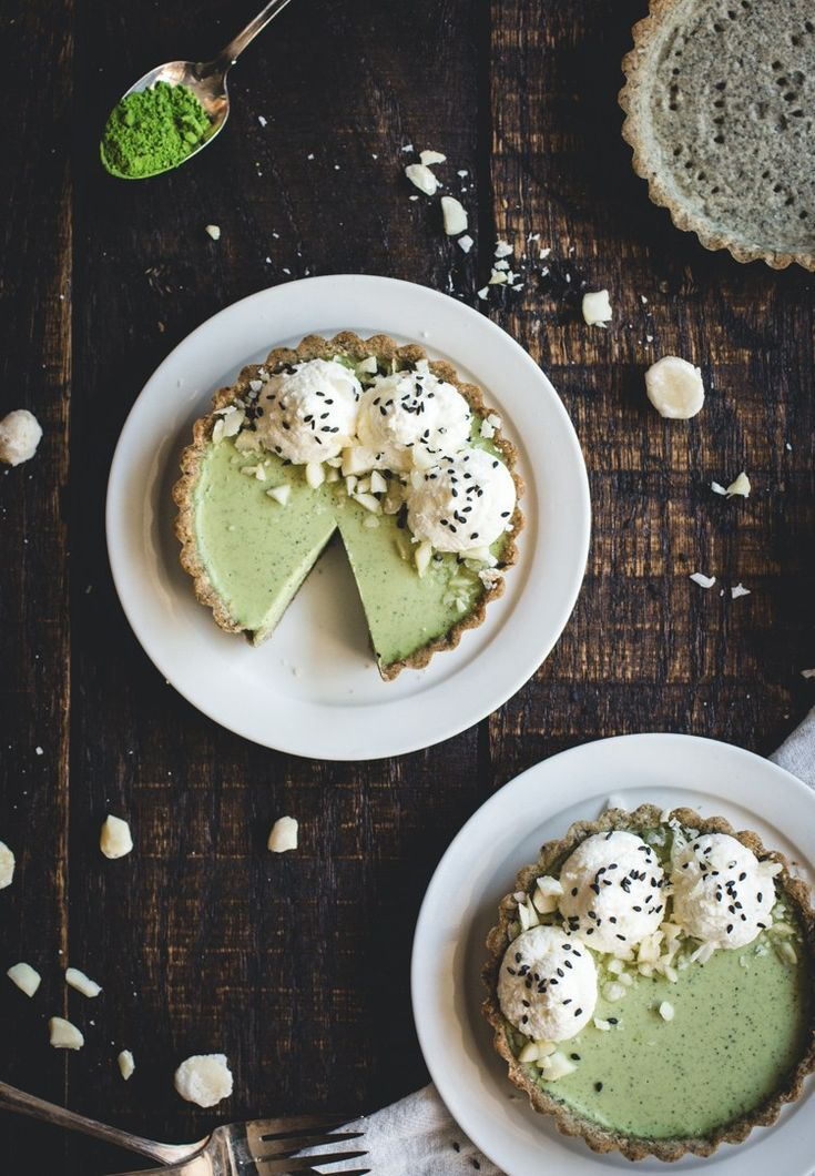 matcha panna cotta and black sesame tartlets |... - Groundwork Coffee