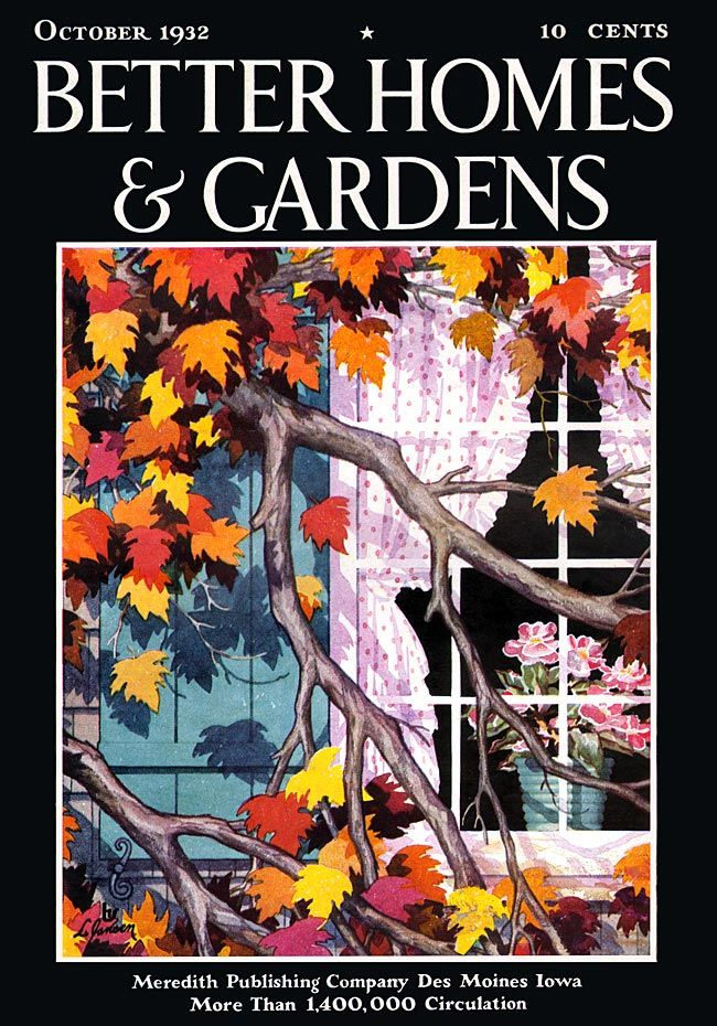 Better Homes And Gardens October 1932 Art Of Autumn