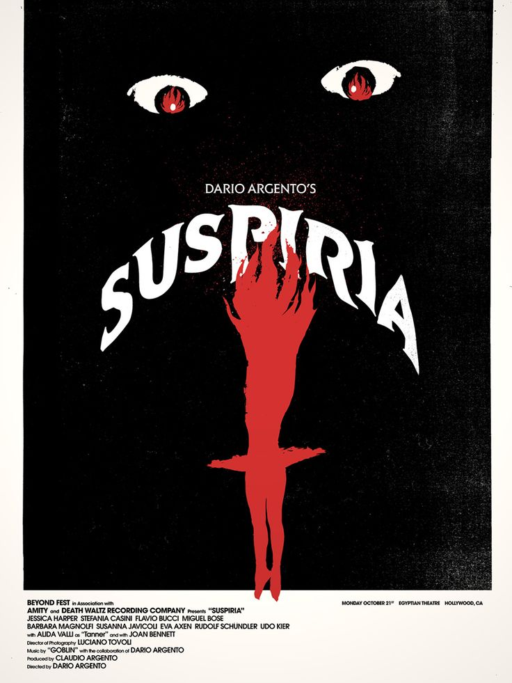 If we're talking about atmosphere, Dario Argento's Suspiria is one of the scariest movies I've ever seen. A newcomer to a fancy ballet academy gradually comes to realize that the school is a front for something far more sinister and supernatural amidst a series of grisly murders.
