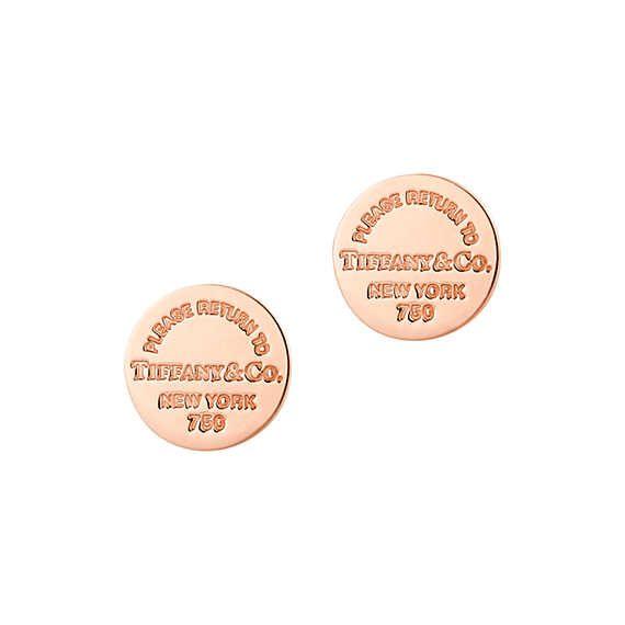 Return to Tiffany®: Orecchini a bottone circolari