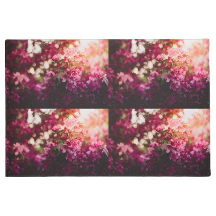 Women's trendy pink and white flower door mat - flowers floral flower design unique style