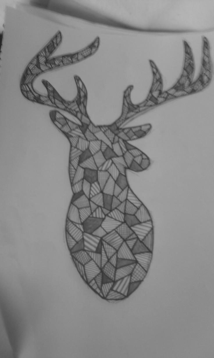 Drawing, Graphic deer - made by Kamilla med K