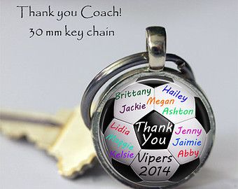 Custom SOCCER Keychain Thank you Coach by NowThatsPersonal