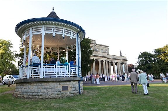 Pittville Pump Rooms bandstand. Credit: Anna Lythgoe