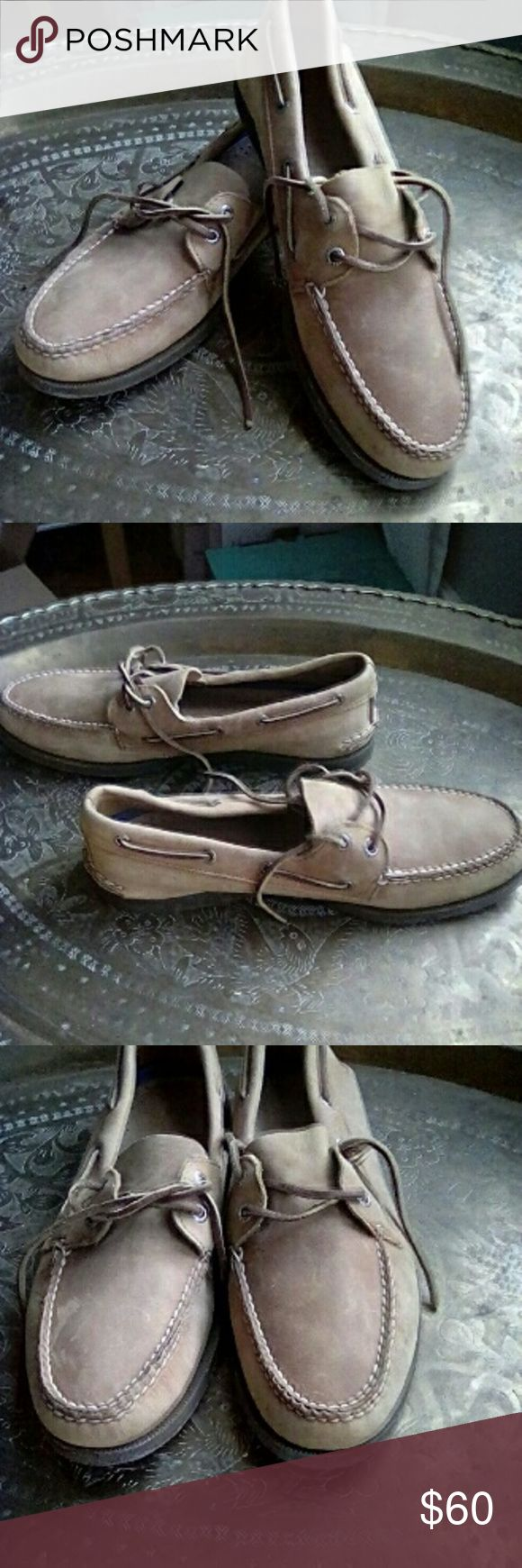 MEN'S leather boat shoes NWOT classy genuine leather boat shoes. Leather upper and insole, stitched rubber sole, leather laces! Sperry Shoes