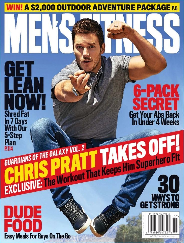 Chris Pratt covers the May 2017 issue of Men's Fitness.