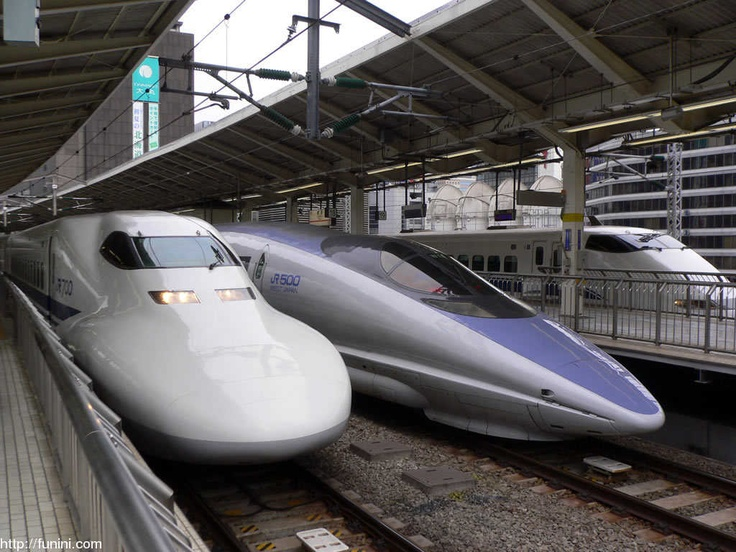 """Shinkansen  also known as the """"bullet train"""" is a network of high-speed railway lines in Japan with maximum speeds of 240–300 km/h (149–186 mph)"""