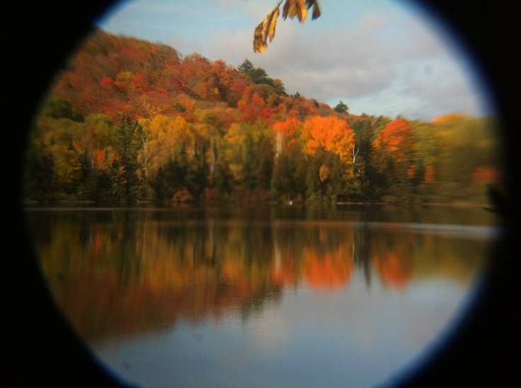 Beauty fall colors across the lake!! Photo by Kyal Stephen Smith. Dorset Ontario Canada.!Taken with IPhone 4.