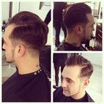 Side parting, quiff, short and sharp!