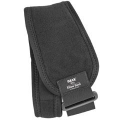 The IMAK Elbow Band helps relieve pain associated with tennis elbow, golfer's elbow, forearm tendonitis and other types of elbow pain.  The removable ergoBeads Pressure Pad provides gentle pressure on the affected tendon for maximum pain relief. This comfortable design feels good all day long, so pain does not get in the way of work or play.  For extra relief, freeze the removable Pressure Pad.