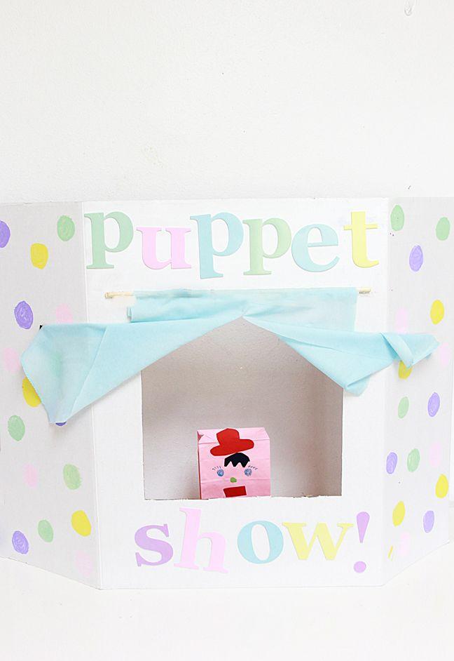 DIY Fold-Up Cardboard Puppet Theater