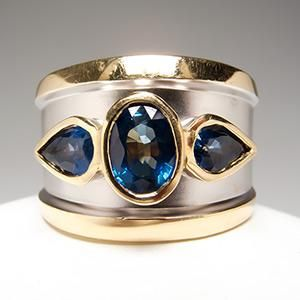 LeVian Blue Sapphire Wide Band Etruscan Ring 14K Gold    Mr. A. LeVian had an eye for beauty and a passion for gemstones. His work is unprecedented, and his legacy is one of integrity, passion, and honor.