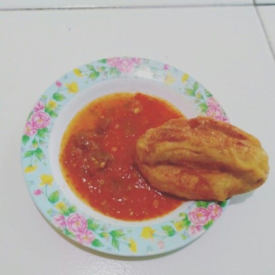 Banana with sambal