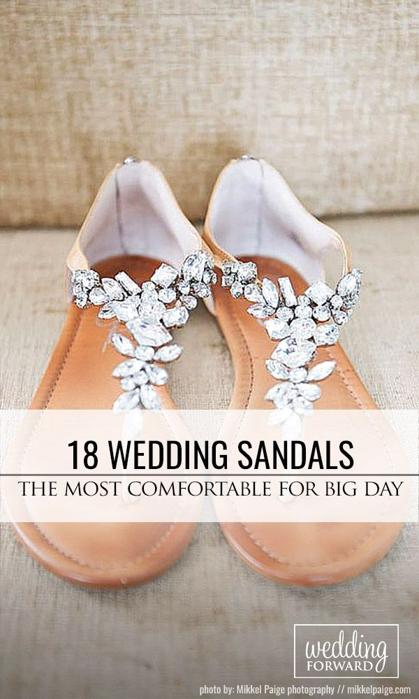 Now I find it, after my wedding! Haha!! 18 Wedding Sandals You'll Want To Wear Again ❤ Perfect for summer beach wedding, flat, comfortable - wedding sandals have many advantages. See more: http://www.weddingforward.com/wedding-sandals/ #weddings #shoes