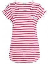 'Allison' Stripe Zip Pocket Tee