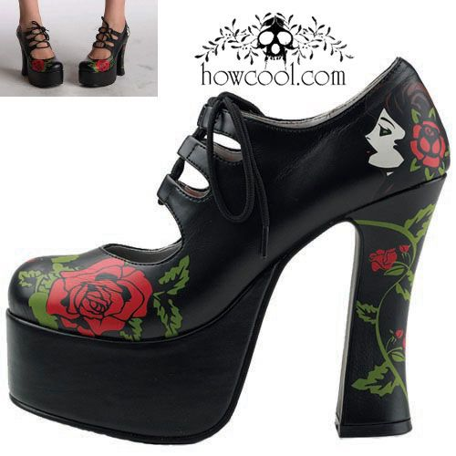 HowCool.com - Lace Up Heels - Pistola Rosa Tie Super Platform :  shoes heels platforms