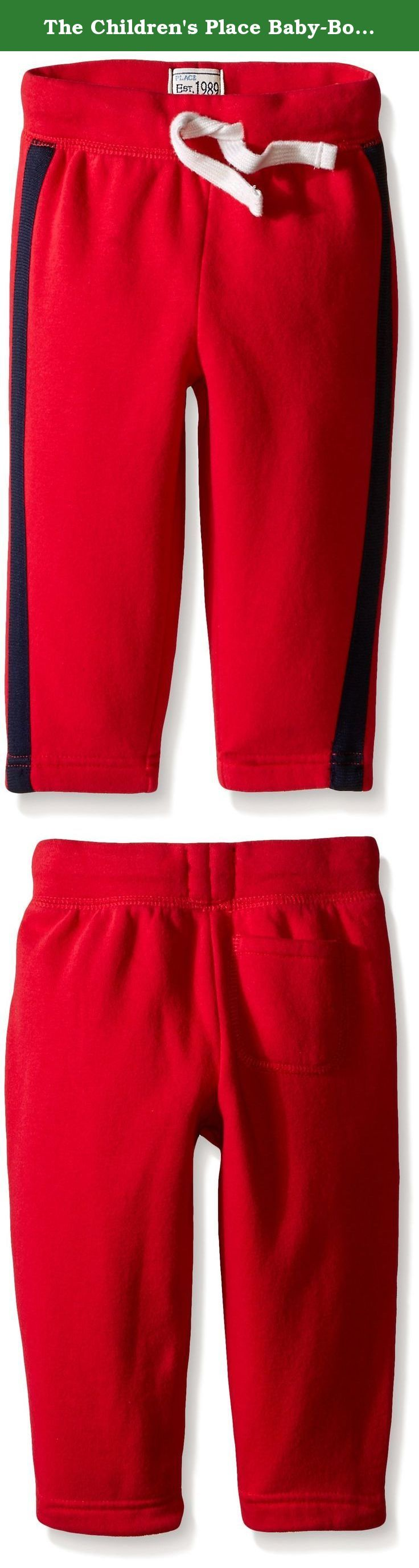 The Children's Place Baby-Boys Taped Fleece Pant. Your athlete will love to move in these fleece pants.